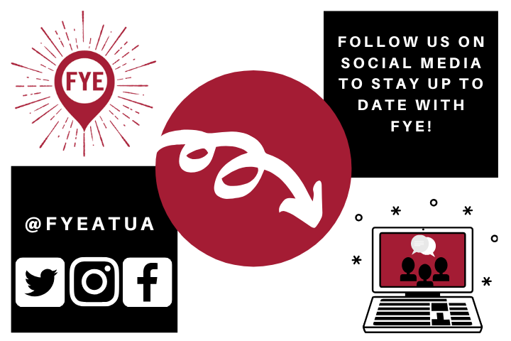 Follow Social Media @FYEatUA